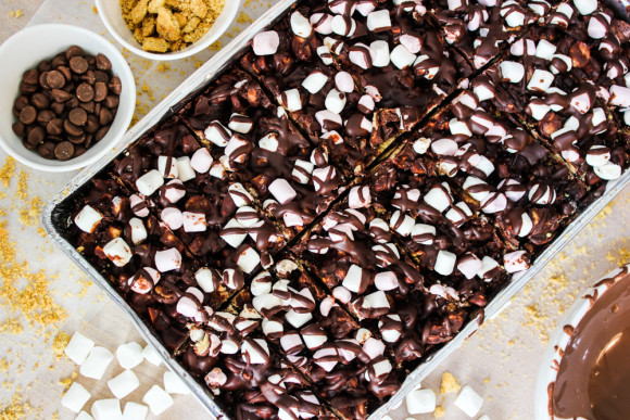 Rocky Road Tray Bake