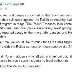 Polish Embassy fb concern