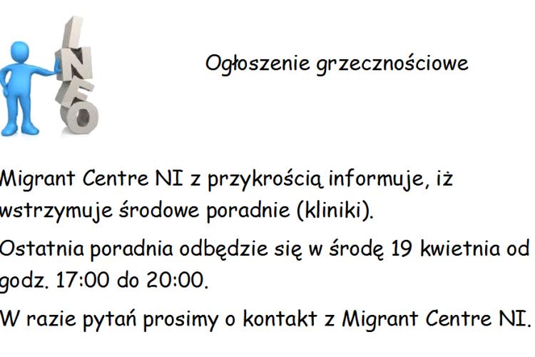 Ogłoszenie grzecznościowe Migrant Centre NI